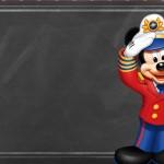 Convite Chalkboard Mickey Marinheiro