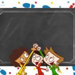 Convite Chalkboard personalizados DPA Detetives do Prédio Azul