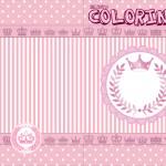 Convite Colorindo Kit Realeza Rosa