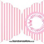 Convite Cupcake Kit Realeza Rosa