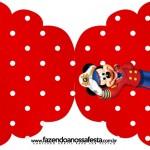 Convite Cupcake Mickey Marinheiro