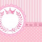 Convite Kit Realeza Rosa