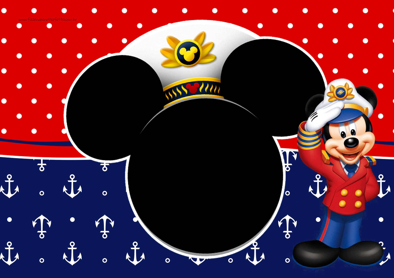 Convite Mickey Marinheiro 1