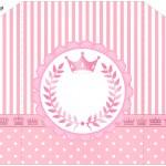 Convite com Envelope Kit Realeza Rosa