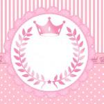 Convite festa Realeza Rosa