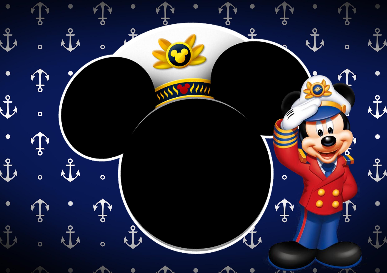 Convite kit festa Mickey Marinheiro 1