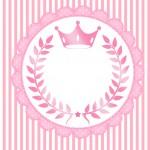 Convite ou Cartão Kit Realeza Rosa