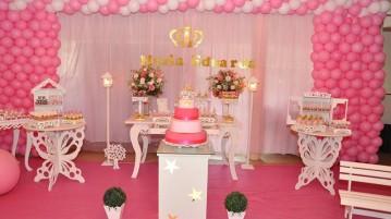 Decoração Festa Coroa de Princesa da Maria Eduarda