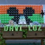 Decoração com Balão Festa Mickey Safari do Davi