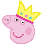 Decoracão Garrafa Peppa Pig Princesa