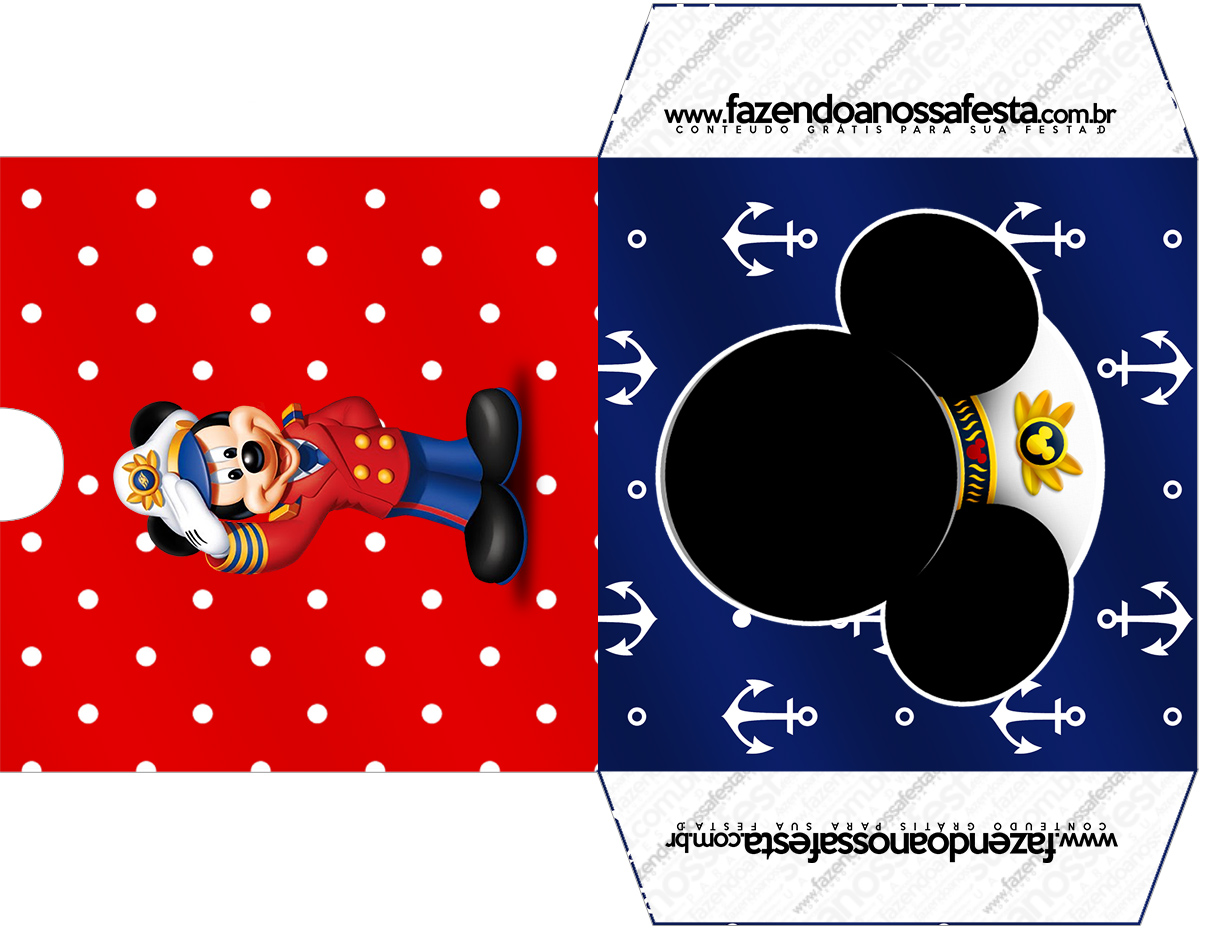 Envelope CD DVD Mickey Marinheiro