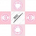 Forminhas Docinhos Quadrada Kit Realeza Rosa