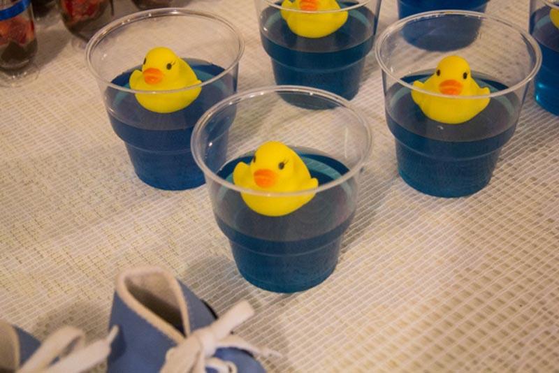 Gelatina Chá de Fraldas Patinho Amarelo dos Trigêmeos