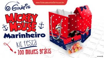 Kit Festa Mickey Marinheiro Grátis