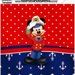 Molde Quadrado Mickey Marinheiro