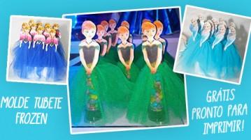 Molde Tubete Frozen - Grátis para Imprimir