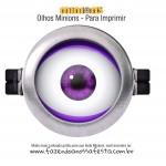 Olhos Minions Roxo