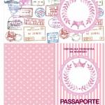 Passaporte Kit Realeza Rosa