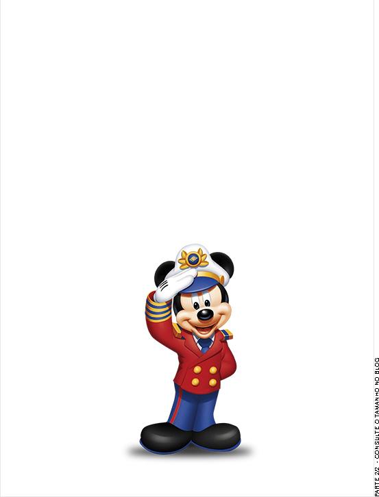 Passaporte - Parte de dentro Mickey Marinheiro