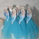 Pirulito com Tule Frozen Elsa