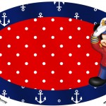 Placa Elipse Mickey Marinheiro 1