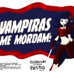 Plaquinha Halloween Vampiras me Mordam