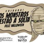 Plaquinhas Halloween Monstros Mumia