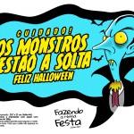 Plaquinhas Halloween Monstros a Solta Vampiro