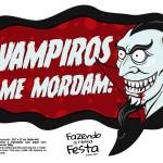 Plaquinhas Halloween Vampiros Me Mordam