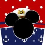 Rótulo Balde de Pipoca Mickey Marinheiro