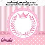 Rótulo Baton Garoto Kit Realeza Rosa