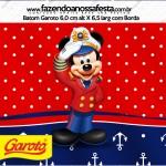 Rótulo Baton Garoto Mickey Marinheiro