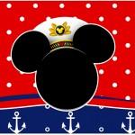 Rótulo Caixa de Bombom Mickey Marinheiro