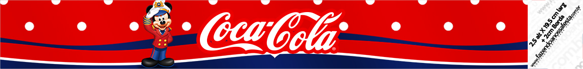 Rótulo Coca-cola Mickey Marinheiro