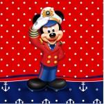 Rótulo Mini Confeti Mickey Marinheiro