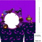 Sacolinha Halloween Bruxinha A4 Parte 1