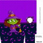 Sacolinha Halloween Bruxinha A4 Parte 2