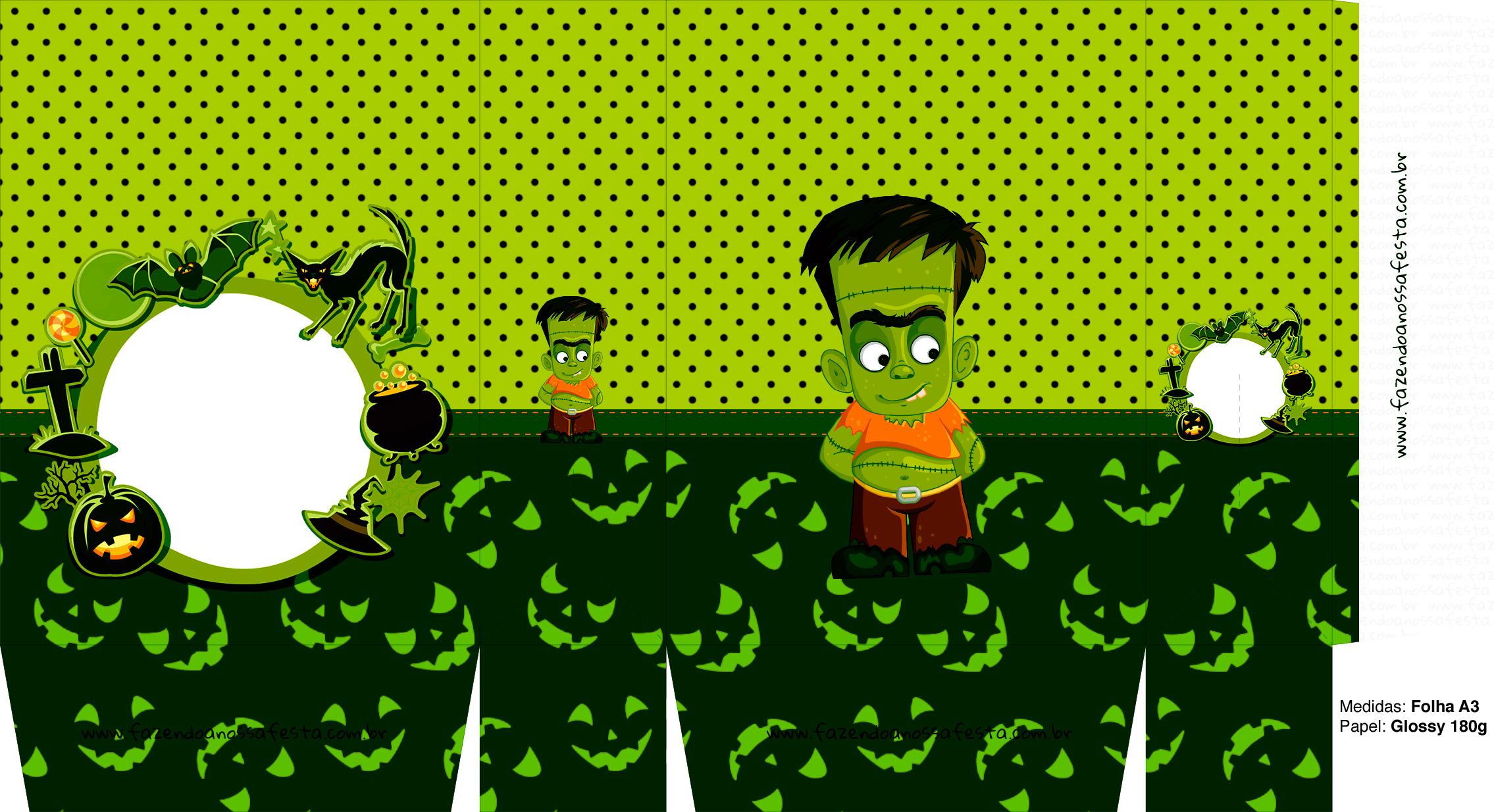 Sacolinha Halloween Frankenstein A3