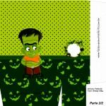 Sacolinha Halloween Frankenstein A4 - Parte 2