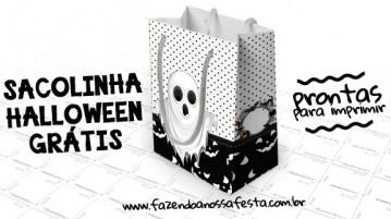 Sacolinha Halloween Grátis para Imprimir