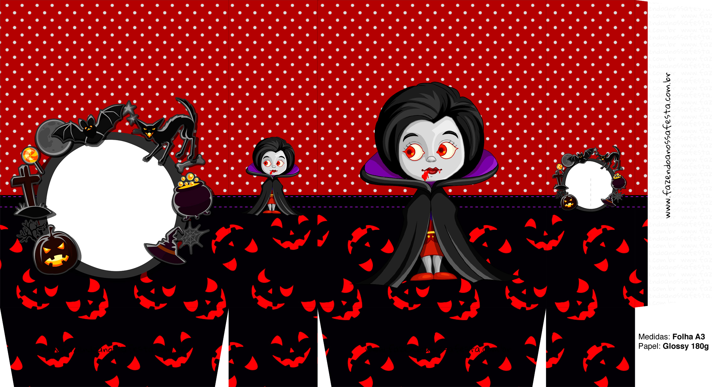 Sacolinha Halloween Vampira A3