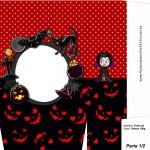 Sacolinha Halloween Vampira A4 - Parte 1