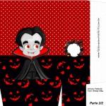 Sacolinha Halloween Vampiro A4 - Parte 2
