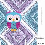 Sacolinha Surpresa Coruja Indie Azul e Roxo A4 Parte 2