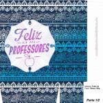 Sacolinha Surpresa Dia dos Professores Coruja Indie Azul - A4