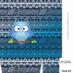 Sacolinha Surpresa Dia dos Professores Coruja Indie Azul - A4 - Parte 2