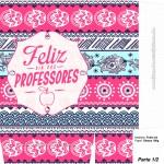 Sacolinha Surpresa Dia dos Professores Coruja Indie Rosa A4