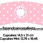 Saias Wrappers para Cupcakes 2 Kit Realeza Rosa