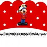 Saias Wrappers para Cupcakes 2 Mickey Marinheiro