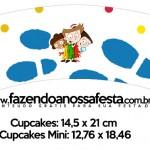 Saias Wrappers para Cupcakes DPA Detetives do Prédio Azul